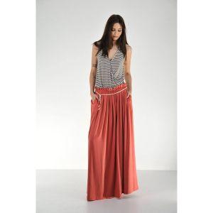 Ανοιξιάτικη φαρδιά maxi φούστα