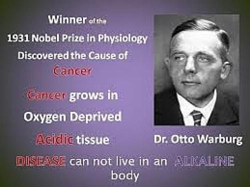 Д-р Ото Варбург, алкална диета срещу рак