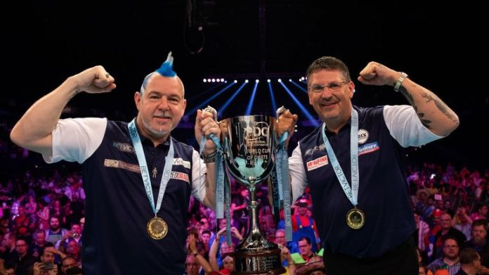 Peter Wright and Gary Anderson claimed Scotland's first World Cup crown in 2019