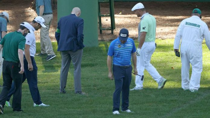 Bryson DeChambeau lost a ball at the third hole