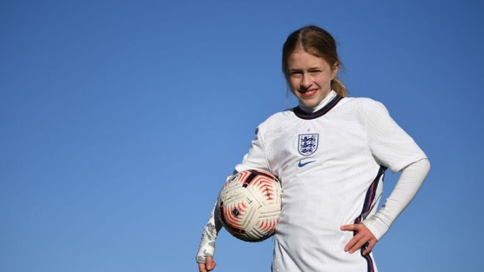 Imogen Papworth-Heidel completed her 7.1 million keepy-uppie challenge on Wednesday