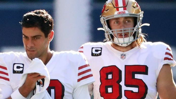 Jimmy Garoppolo and George Kittle were both lost to injury for the 49ers on Sunday