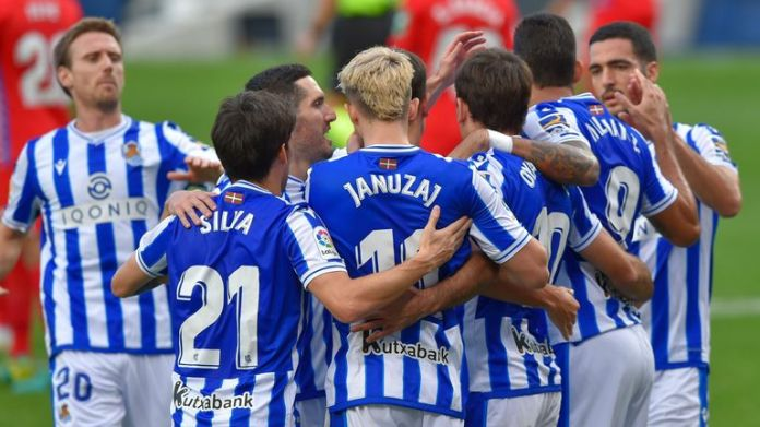 Real Sociedad's players beat virus-depleted Granada