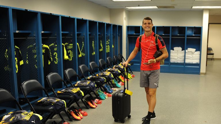 Granit Xhaka made his first Arsenal start