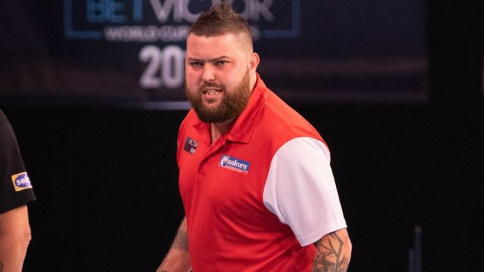 Michael Smith continued his excellent form at the World Cup of Darts in Austria (courtesy of Kais Bodensieck/PDC Europe)