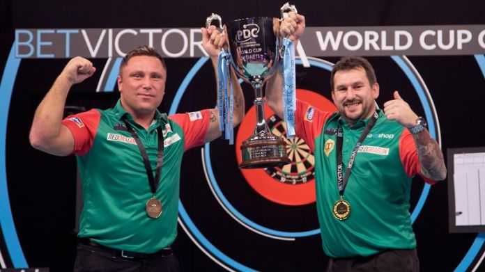 Gerwyn Price and Jonny Clayton teamed up to lift the World Cup for Wales but will face each other in Group G