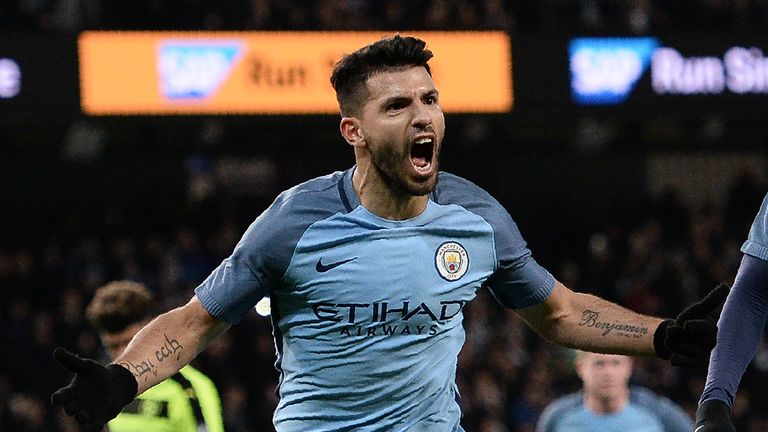 sergio aguero took his season s tally to 22 goals in all competitions