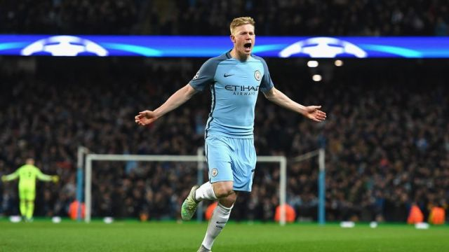 Kevin de Bruyne recorded the most Premier League assists in the 2016-17 campaign