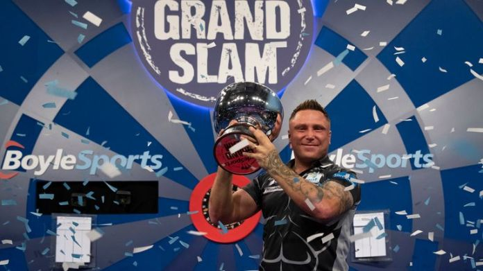 Gerwyn Price lifted the Eric Bristow Trophy with a brilliant performance in Wolverhampton