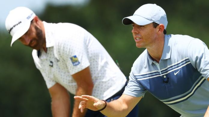 Dustin Johnson and Rory McIlroy have been grouped together for the first two rounds of The Masters