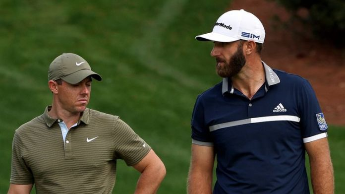 Rory McIlroy and Dustin Johnson played alongside Patrick Cantlay for the first two rounds