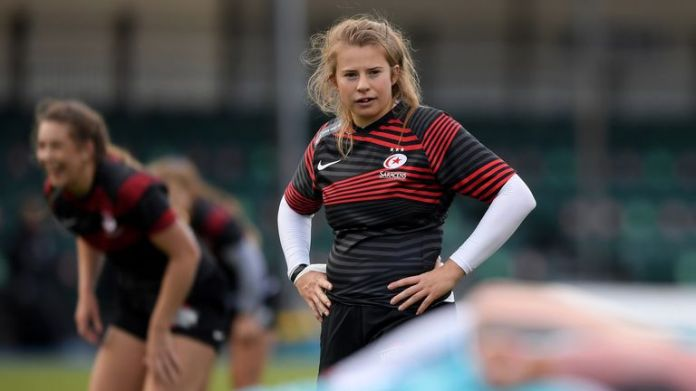 Zoe Harrison of Saracens will form the 10-12 axis with Rowland