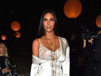 Kim Kardashian attends the Givenchy show as part of the Paris Fashion Week Womenswear  Spring/Summer 2017