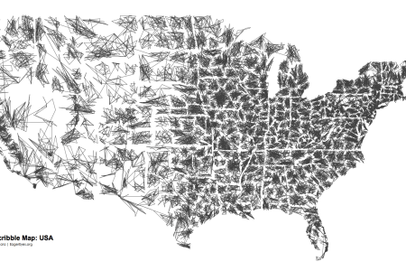 the us zipscribble map