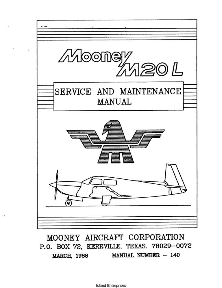 Mooney M20M Service and Maintenance Manual