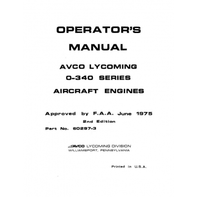 Continental A-65 & A-75 Maintenance & Overhaul Manual with