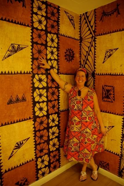 Tapa waterfall dress