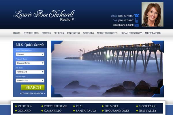 Laurie Ann Ehrhardt - website design