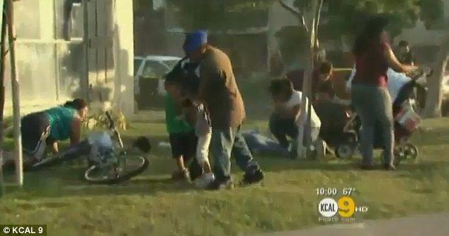 Police Dog Biting Woman Anaheim