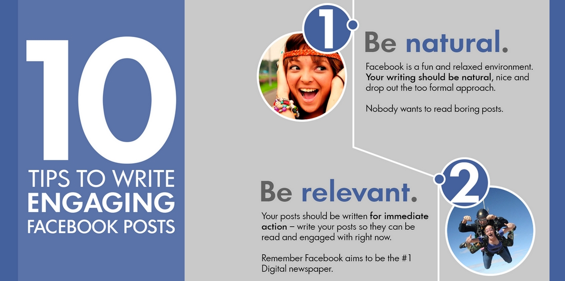 10 Awesome Tips to Write Engaging Facebook Posts [Infographic]