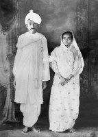 Picture of Gandhi and Kasturba