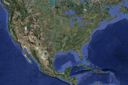 satellite photograph of the united states | earth habitat
