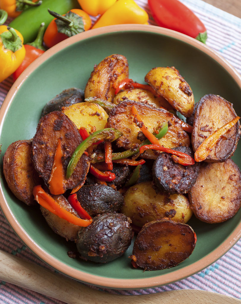 Patatas Bravas in Dish