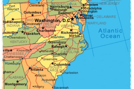 east coast usa travel maps