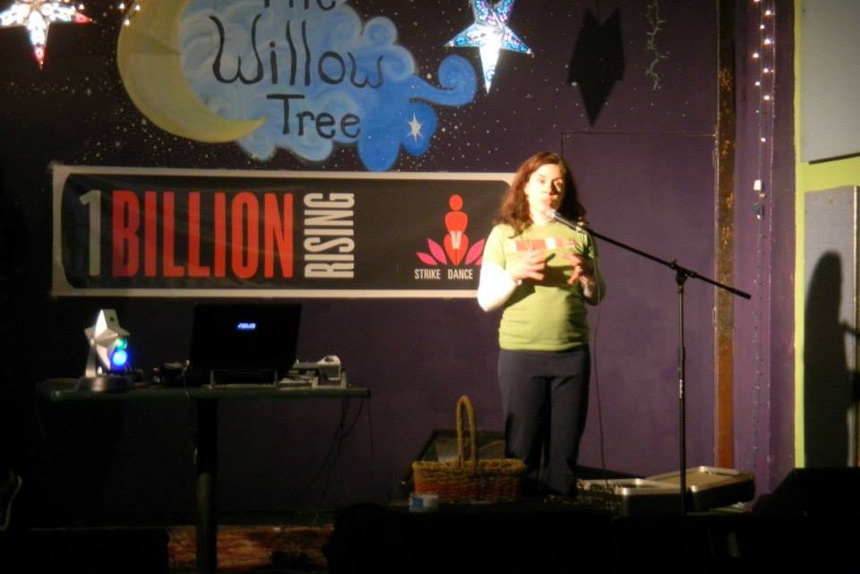 ETSU's FMLA and Women's Studies organizations held their third annual One Billion Rising event at The Willow Tree Coffeehouse and Music Room on Feb. 12 to raise money to benefit women who experience domestic violence. (Photograph Courtesy of ETSU FMLA)