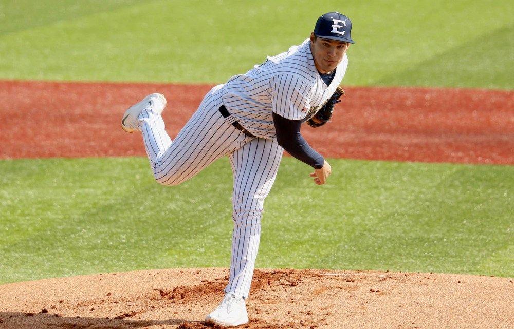 The men's baseball team split wins with the Butler Bulldogs in a doubleheader this past weekend at home. The Bucs now hold a 5-2 overall record. (Photograph Courtesy of ETSU Athletics)