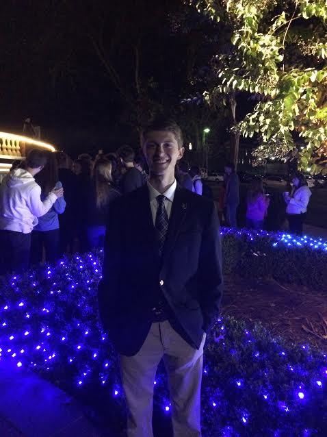 Alex Cassell at Holiday Lights