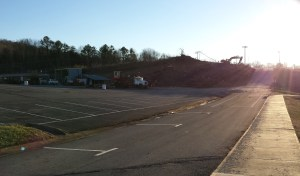 Current site of ETSU Football Stadium Construction. (Photograph by Jacob Young/East Tennessean)