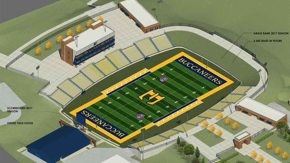 Artist's diagram of what the new Football Stadium on campus will look like. Contributed by: ETSUStadium.com