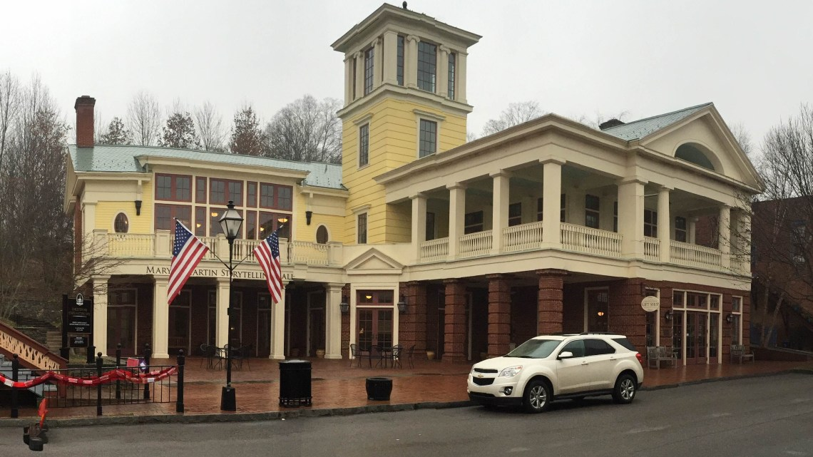 The Jonesborough Storytelling Center and Christopher Taylor's Cabin (below) are two of the cultural landmarks in Tennessee's oldest town.   (Photograph by Abby Kraus)
