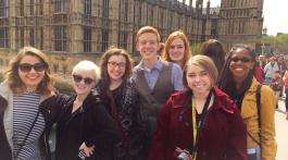 ETSU students studying in London during summer 2015 (Photo from Zoe Hester, East Tennessean)