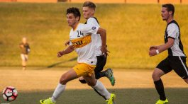 Fletcher Ekern (Midfielder) against App State. Photo by Dakota Hamilton.