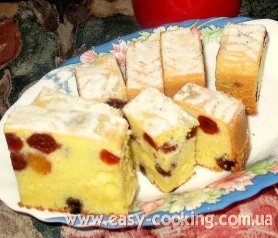 Отличный рецепт кекса с вишнями (изюмом или цукатами - на выбор)