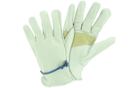 Blue Hawk Leather Garden Work Gloves
