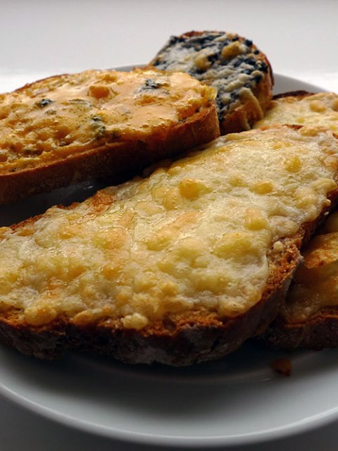 Cheese on toast: very simple, very delicious.