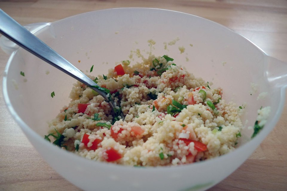 Couscous salad can be a meal in its own right.