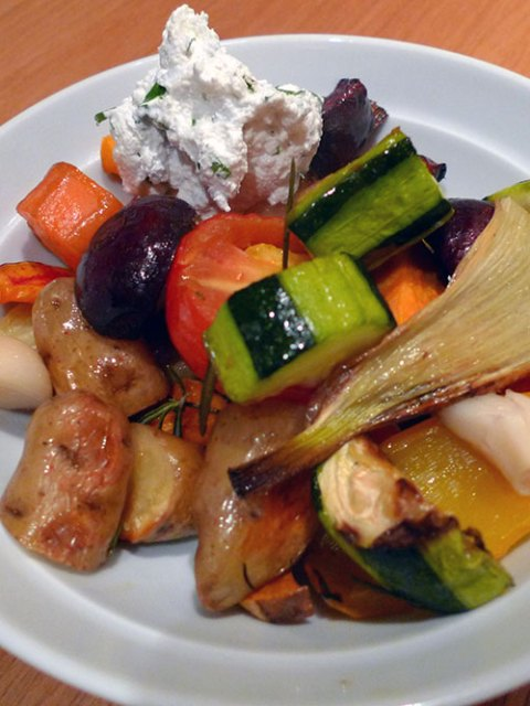 Roast vegetables are brilliant. Warm or cold.