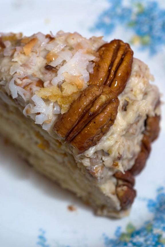 Fresh Orange Italian Cream Cake recipe photo