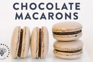 Italian Chocolate Macarons Recipe (VIDEO)