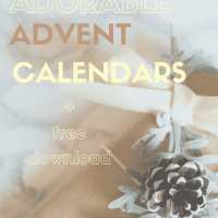 The most adorable advent calendars found for you. I love the black and white paper version! See all at www.easyonthetongue.com
