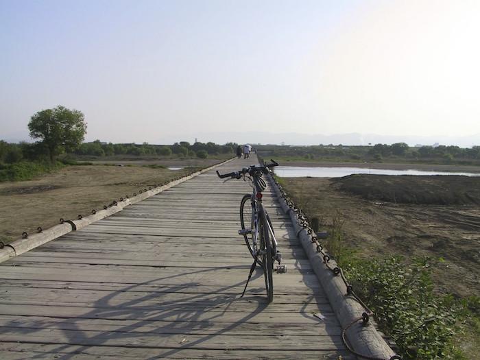 清滝峠から八幡木津自転車道を木津側起点から御幸橋まで自転車でポタリング