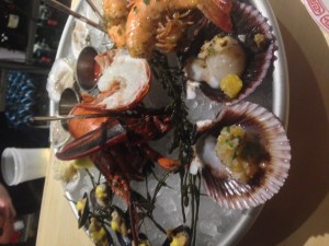 Seafood tower for two