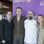 from left to right: March of Dimes Rhode Island State Director Betsy Akin, Newport Restaurant Group COO and 2003 Signature Chef Casey Riley, Chef Jonathan Cambra and Gracie's owner and Signature Chef Event co-chair Ellen Gracyalny