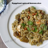 Eggplant spiced brown rice (vaangi bhaath)