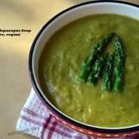 Cream of Asparagus Soup for Diabetes Free Thursdays (gluten-free, vegan)