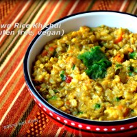 Brown Rice Khichdi - A  Single Pot Meal for Diabetes Friendly Thursdays